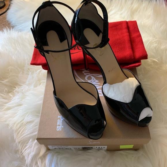 090e2c1afa Christian Louboutin Shoes | Aketata 120 Black Patent | Poshmark